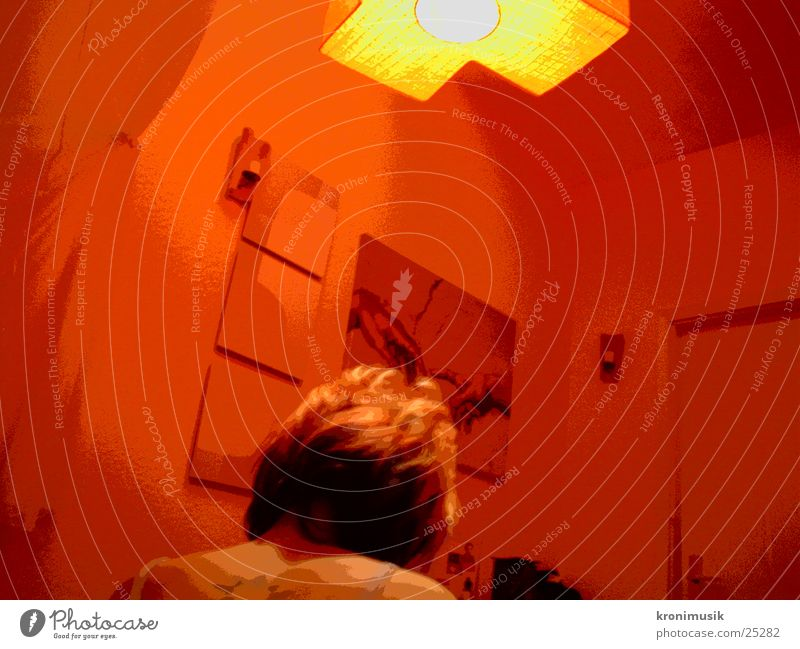 under red lamp Red Calm Think Lamp Woman Moody atmospherically Foyer Back