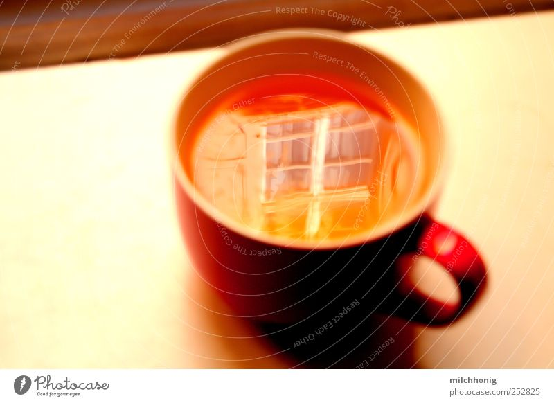 Water Red Calm Yellow Window Food Moody Orange Glass Elegant Esthetic Beverage Tea Mirror Serene Cup