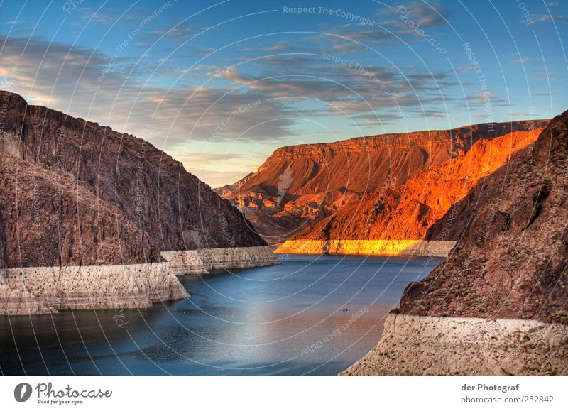 Sky Nature Water Summer Clouds Calm Environment Landscape Rock Adventure River Beautiful weather Canyon HDR Hoover Dam