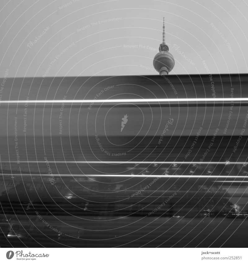 ride without a ticket City Black Dark Movement Berlin Above Line Exceptional Speed Perspective Change Manmade structures Sphere Cloudless sky Hang Downtown