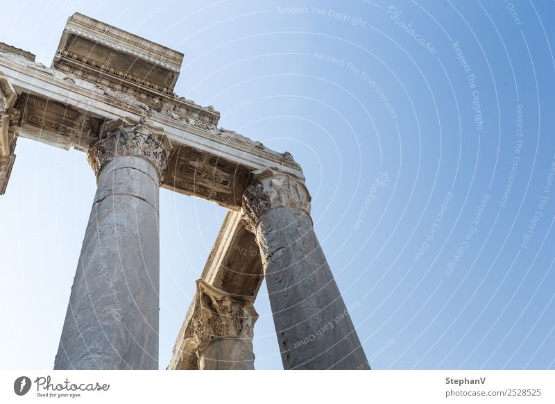 Columns in the Forum Romanum Architecture Rome Italy Europe Tourist Attraction Monument Forum Romano Old Historic Wanderlust Tourism Past Transience