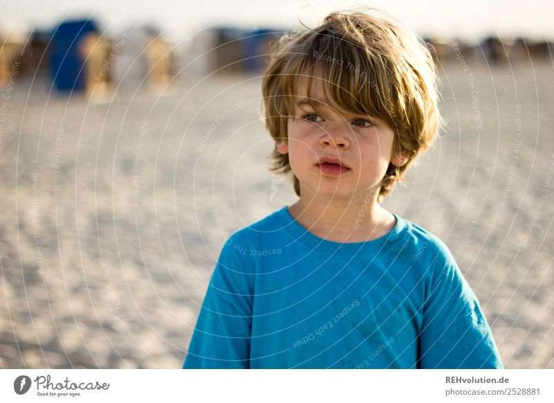 Boy on the beach Leisure and hobbies Vacation & Travel Tourism Freedom Summer Summer vacation Beach Human being Masculine Child Boy (child) Infancy Face 1