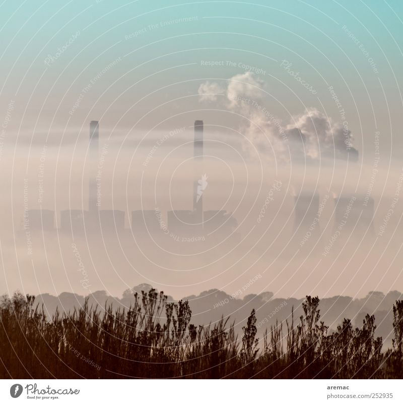 Environment Fog Energy Energy industry Exhaust gas Steam Electricity generating station Environmental pollution Emission Energy crisis Cooling tower