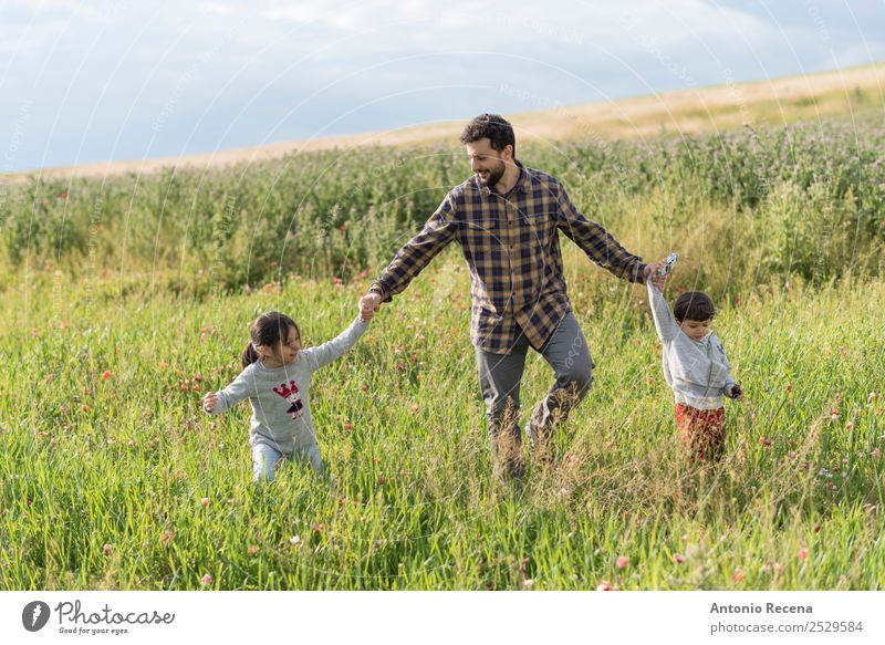 walking in Springfield Child Human being Man Hand Flower Lifestyle Adults Meadow Family & Relations Grass Playing Infancy Toddler Parents Father
