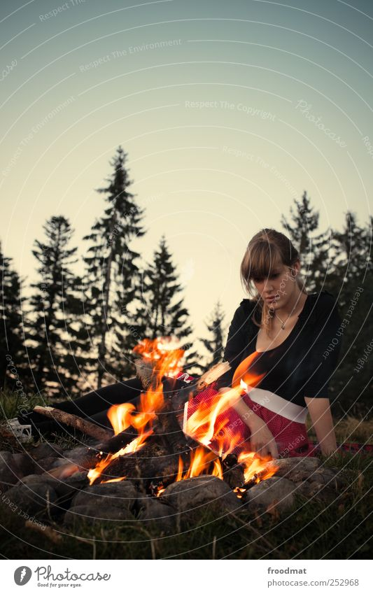 hypnotist Relaxation Calm Meditation Leisure and hobbies Vacation & Travel Trip Adventure Camping Mountain Hiking Human being Feminine Young woman