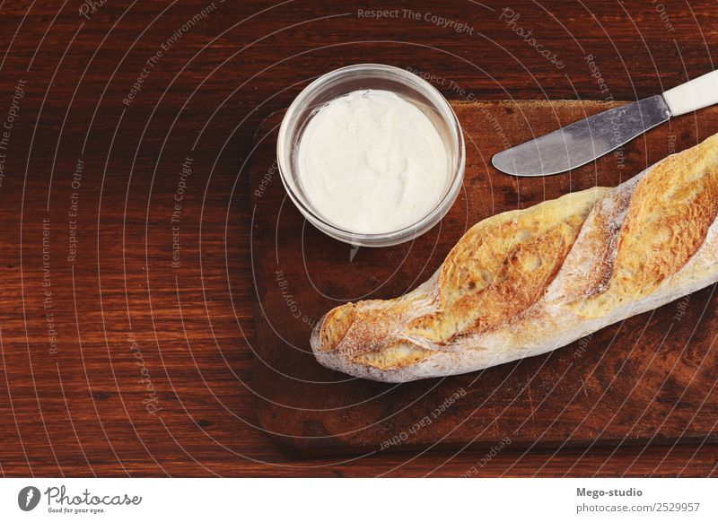 cheese bread with dip of cream cheese Cheese Bread Herbs and spices Nutrition Eating Breakfast Vegetarian diet Bowl Wood Fresh Delicious Snack food Meal Spread
