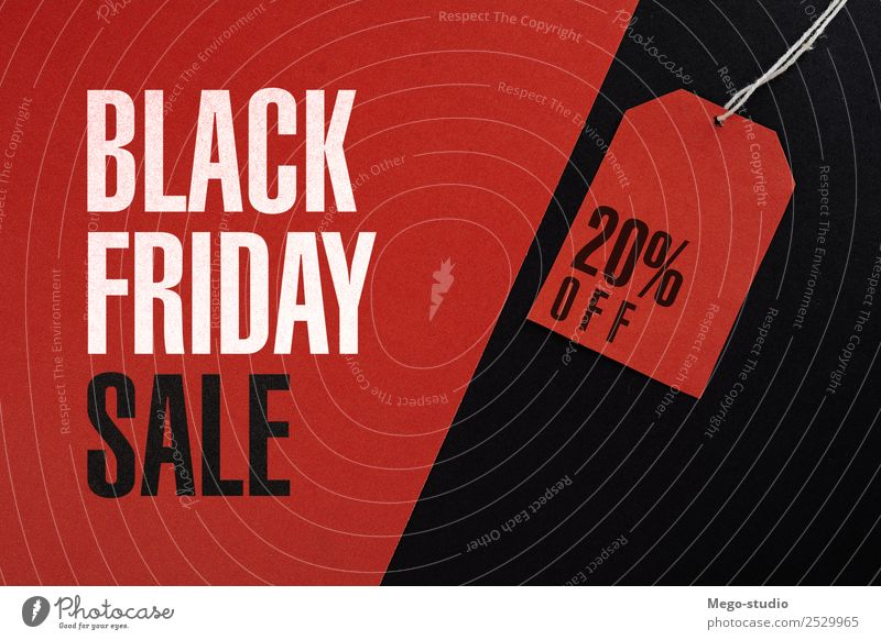 Black friday concept Shopping Style Design Business Fashion Paper Sell Exceptional Red Advertising Sale label Friday discount market buy offer Retail sector tag