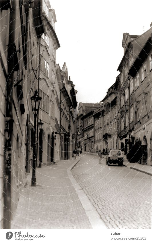 City Street Europe Laboratory Black & white photo Alley Sepia Prague Czech Republic Photo laboratory Hradcany