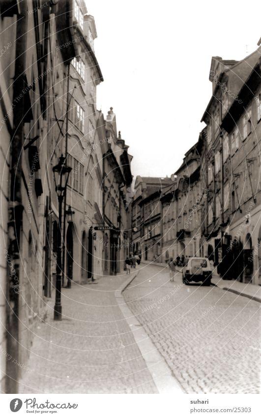 City Street Europe Laboratory Black & white photo Alley Sepia Prague Czech Republic Photo laboratory Hradcany
