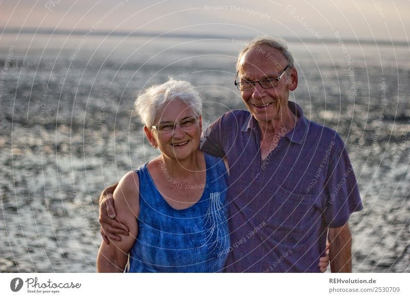 Woman Human being Nature Vacation & Travel Man Summer Landscape Ocean Joy Beach Adults Life Environment Love Senior citizen Feminine