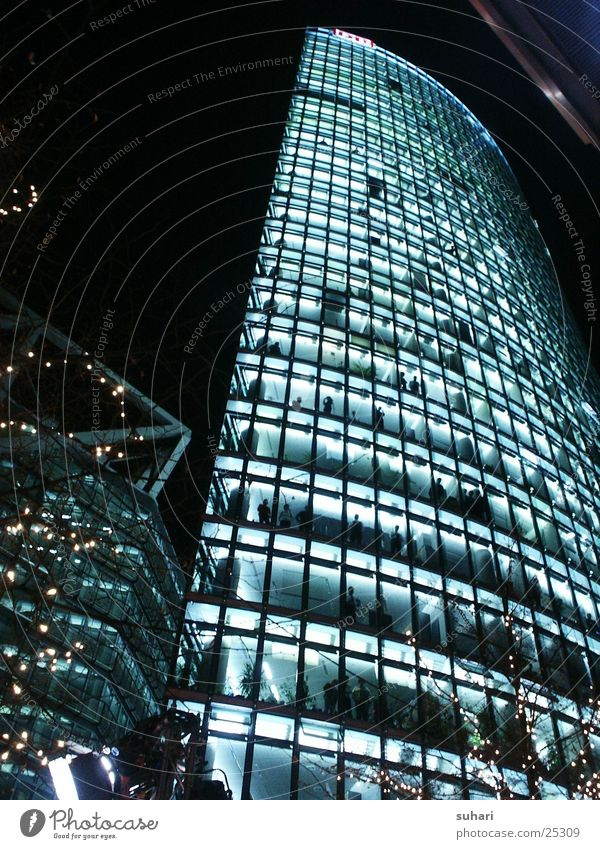 Potsdamer Square Potsdamer Platz Sony Center Berlin Night Window Architecture Railroad