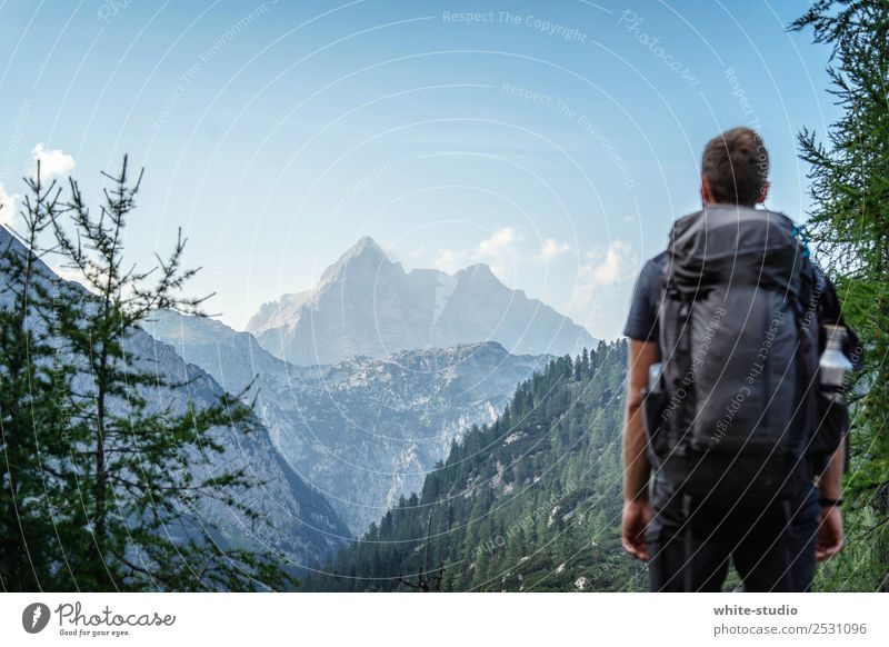 mountains Contentment Relaxation Calm Meditation Vacation & Travel Trip Adventure Far-off places Expedition Camping Summer vacation Mountain Hiking Masculine