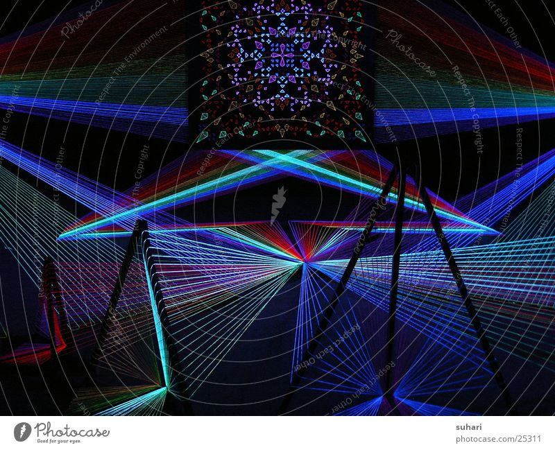 Colour Berlin Trade fair Exhibition Laser Black light Potsdamer Platz