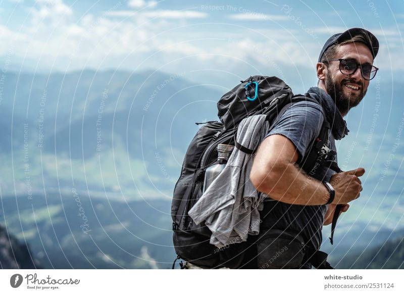 Let's go, let's go! Fitness Sports Training Climbing Mountaineering Sportsperson Hiking Man Adults Environment Nature Landscape Hill Alps Vacation & Travel