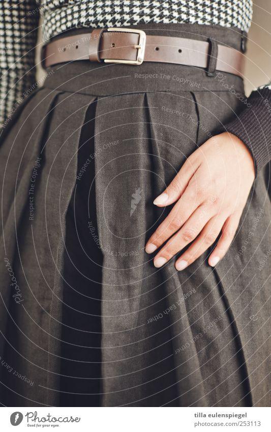 Woman Human being Hand Feminine Adults Fashion Touch Skirt Fingernail Belt Groomed Belt buckle