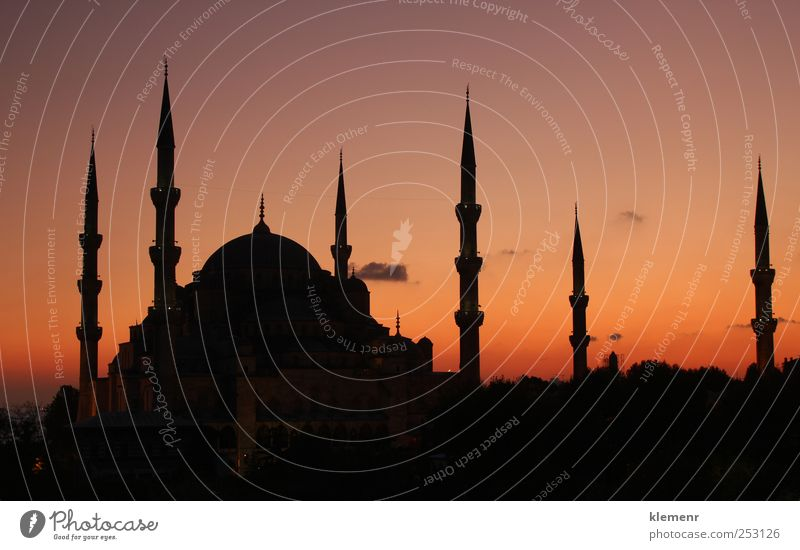 Blue Mosque Istanbul - sunset Beautiful City Vacation & Travel Colour Architecture Building Stone Leisure and hobbies Tourism Perspective Church Europe Education Monument Historic