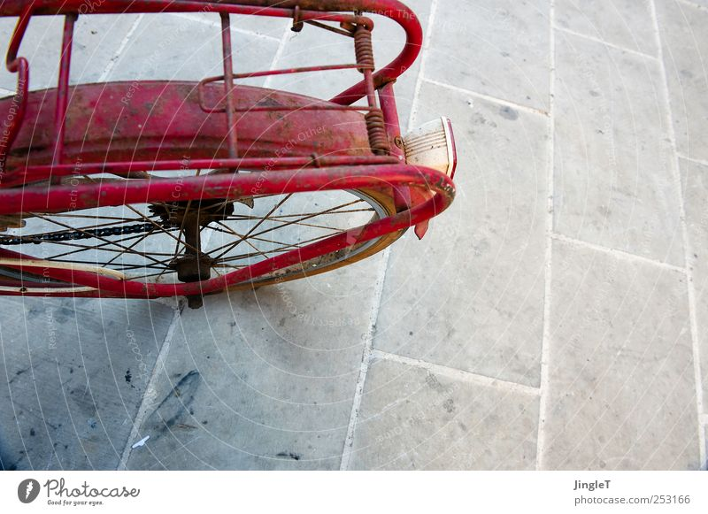Red Playing Stone Metal Bicycle Transport Break Driving Means of transport