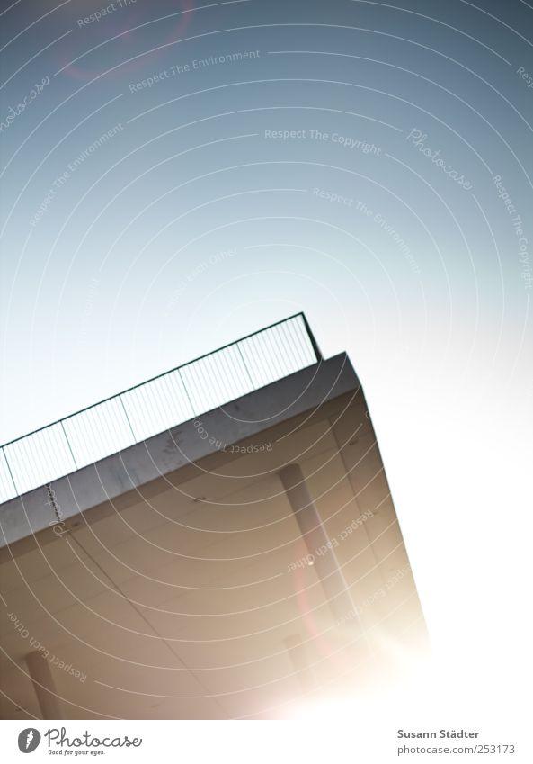 Architecture Bright Bridge Roof Balcony Handrail Terrace Lens flare Light