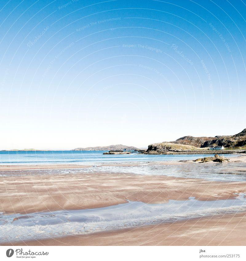 Nature Water Blue White Sun Summer Beach Ocean Calm Far-off places Autumn Freedom Sand Air Stone Coast