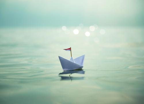 Sail away with me Paper Boat Wellness Harmonious Well-being Relaxation Spa Swimming & Bathing Vacation & Travel Freedom Summer Summer vacation Sun Beach Ocean