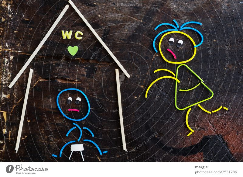 Rubber worms: Hurry up! Personal hygiene Living or residing Flat (apartment) House (Residential Structure) Masculine Feminine Woman Adults Man 2 Human being