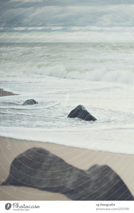 Summer Clouds Landscape Autumn Coast Stone Waves Natural North Sea Baltic Sea Bad weather
