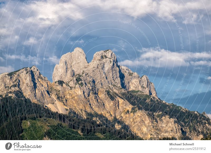 mountain tops Environment Nature Landscape Sky Clouds Rock Alps Mountain Tannheimer Valley Gigantic Large Uniqueness Natural Above Blue Gray Power Willpower
