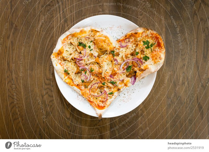 Heart-shaped pizza Food Nutrition Eating Lunch Dinner Italian Food Pizza Plate Restaurant Delicious Emotions Happy Happiness Contentment