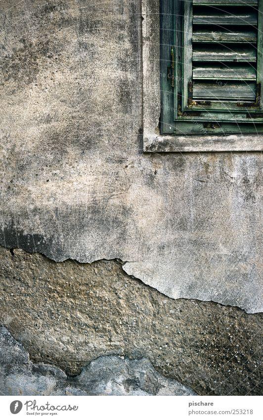 Window Wall (building) Wall (barrier) Facade Broken Gloomy Decline Shutter