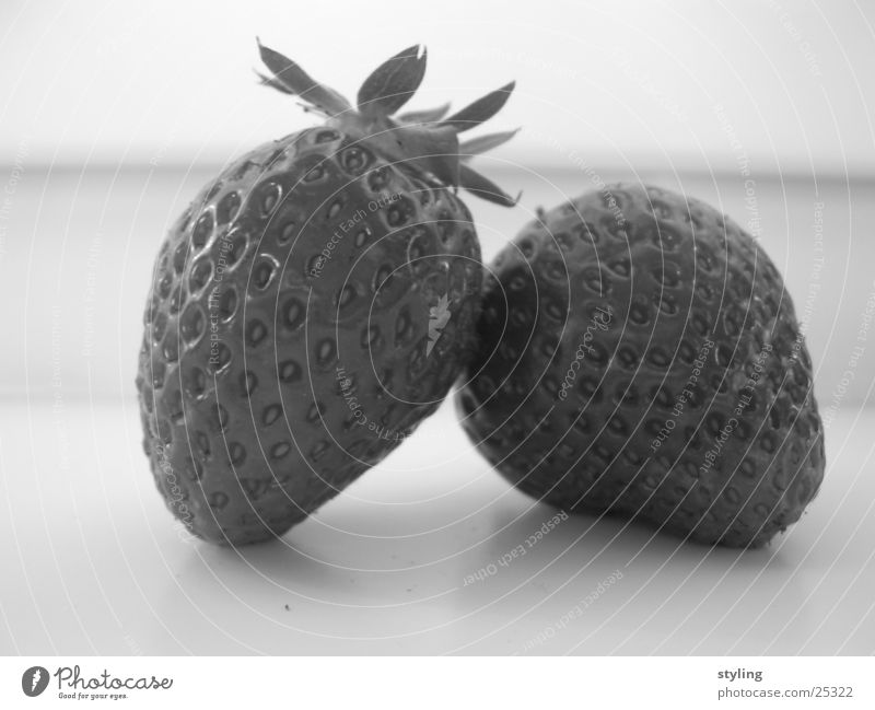 Strawberry Session Fruity Healthy strawberries Black & white photo
