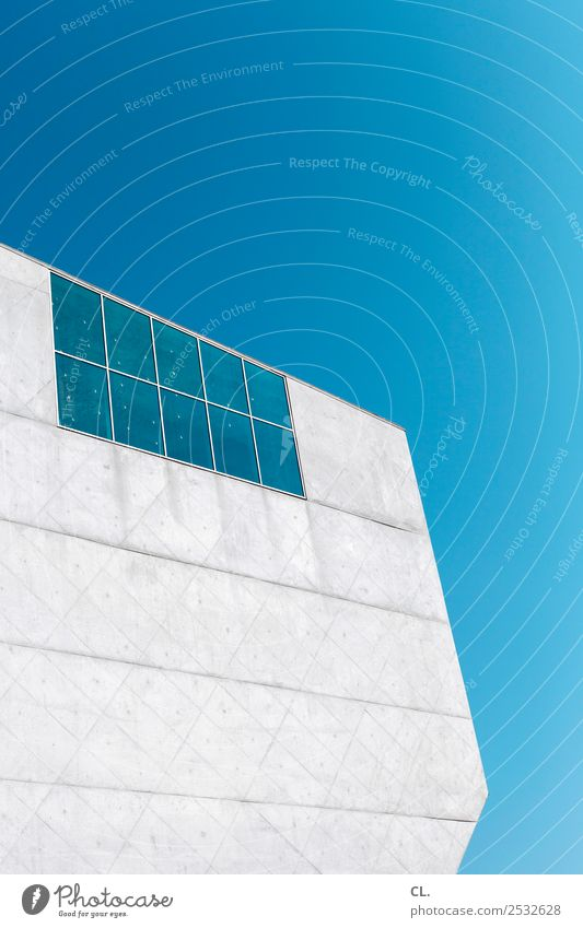 Sky Vacation & Travel Blue Town Window Architecture Wall (building) Building Wall (barrier) Exceptional Gray Facade Design Modern Culture Esthetic