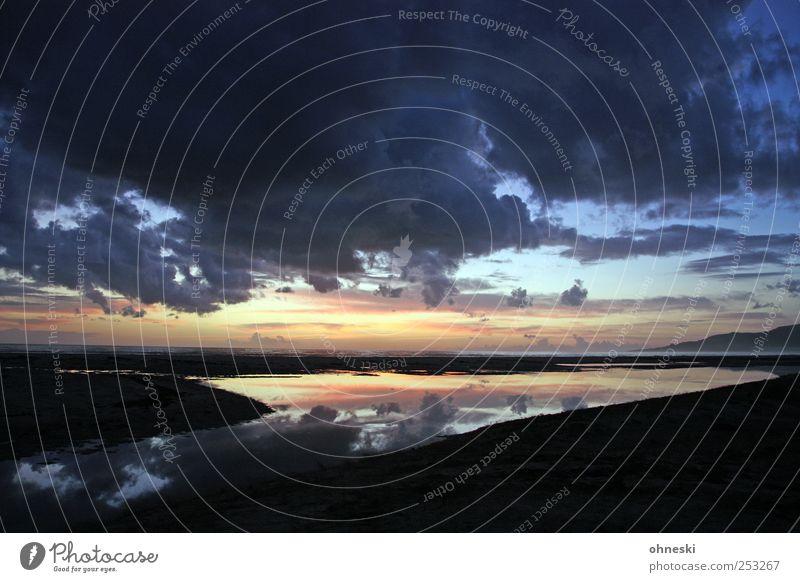 Los Lances Environment Water Sky Clouds Horizon Sun Sunrise Sunset Coast Beach Ocean Atlantic Ocean Lagoon Tarifa Romance Vacation & Travel Far-off places