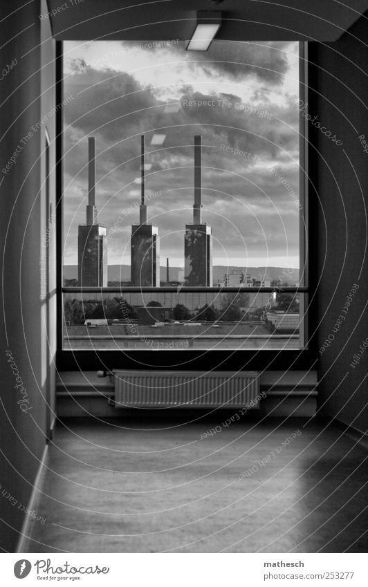 3 brothers Energy industry Hannover House (Residential Structure) Industrial plant Wall (barrier) Wall (building) Window Chimney Black White
