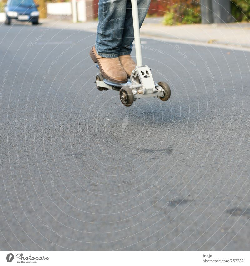 Human being Youth (Young adults) Street Life Playing Movement Lanes & trails Jump Infancy Leisure and hobbies Lifestyle Driving Athletic Traffic infrastructure