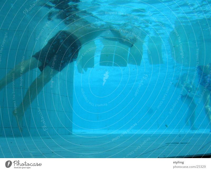 Underwater II Swimming trunks Boy (child) Deep Sports underwater Underwater photo Water Blue