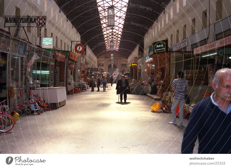 Human being City Europe Gastronomy Trade Greece Crete Covered market Chania