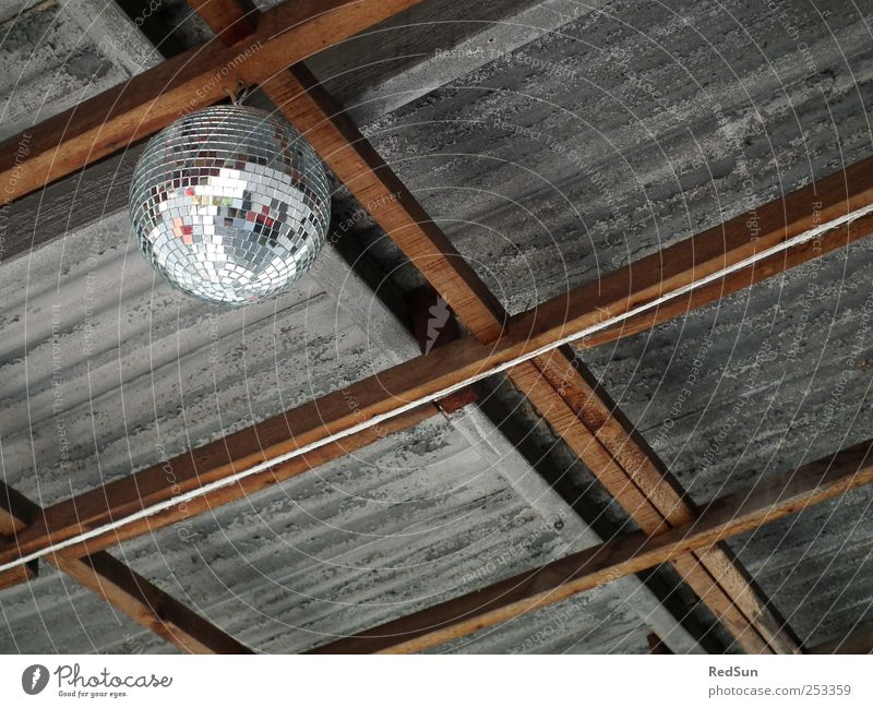 Above Gray Feasts & Celebrations Dance Decoration Hang Disco ball Suspended Joist Corrugated sheet iron Corrugated iron roof