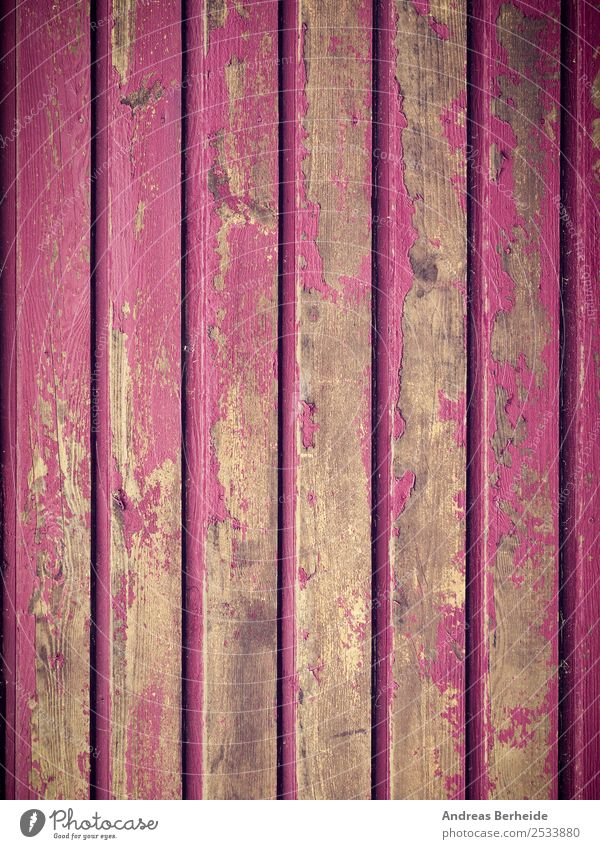 Old wooden wall in pink, peeling paint, paint remains Design Snowboard Nature Wall (barrier) Wall (building) Wood Dirty Retro Pink Nostalgia Transience Change