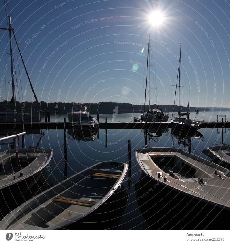 Water Vacation & Travel Sun Summer Autumn Freedom Leisure and hobbies Tourism Harbour Beautiful weather Lakeside Navigation Sailing Sailboat Yacht