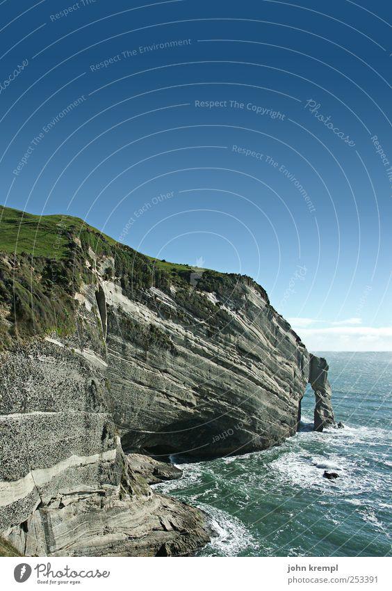 Sky Nature Water Blue Green Beautiful Vacation & Travel Environment Landscape Coast Waves Horizon Hiking Wild Hope Idyll