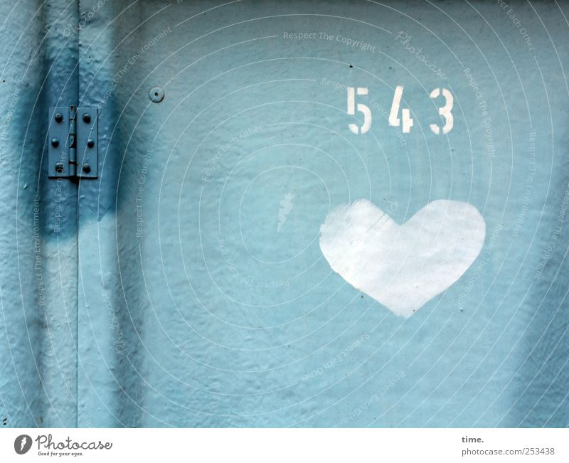 Blue White Love Door Heart A Royalty Free Stock Photo From Photocase