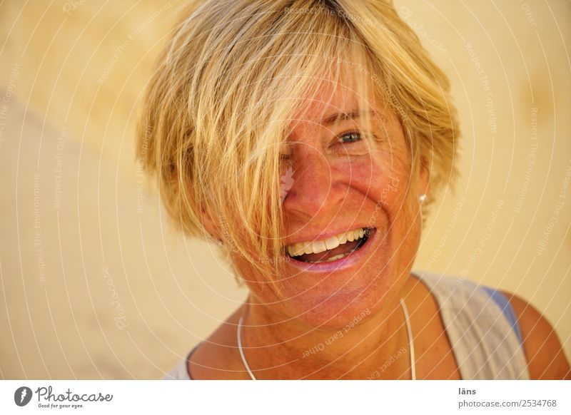 Happiness is... Summer Flirt Human being Feminine Woman Adults Life Head Hair and hairstyles Face 1 45 - 60 years Laughter Looking Happy Natural Positive Warmth