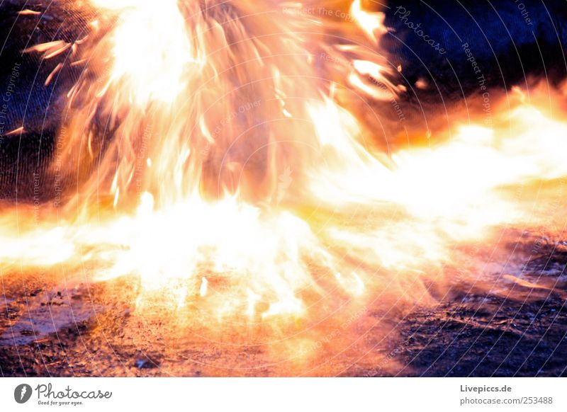 burn Work and employment Workplace Build Blue Yellow Gold Violet Blaze Flame Burn Colour photo Interior shot