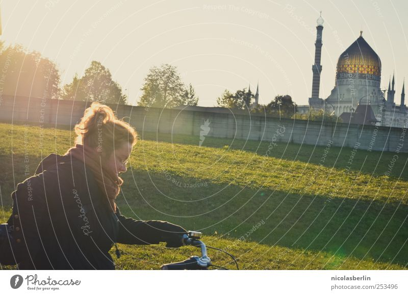 B@DD 11 | Sunshine Vacation & Travel Cycling Young woman Youth (Young adults) Woman Adults Life Human being 18 - 30 years Garden Park Meadow Church Dome Castle