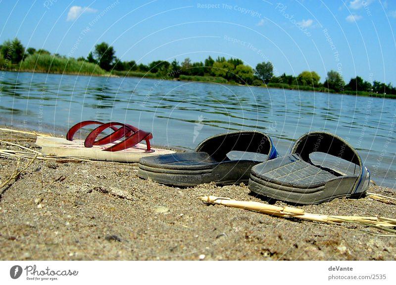 beach couple Sandal Flip-flops Lake Beach Close-up