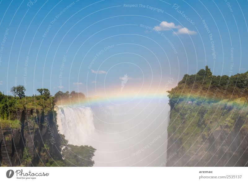 Victoria Falls Vacation & Travel Sightseeing Safari Expedition Nature Landscape Water Beautiful weather River Waterfall Zimbabwe Africa Tourist Attraction