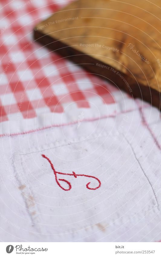 for breakfast :-) Nutrition Breakfast Dinner Picnic Crockery Living or residing Old Uniqueness Embroidery Cloth Rag Chopping board Checkered Letters (alphabet)