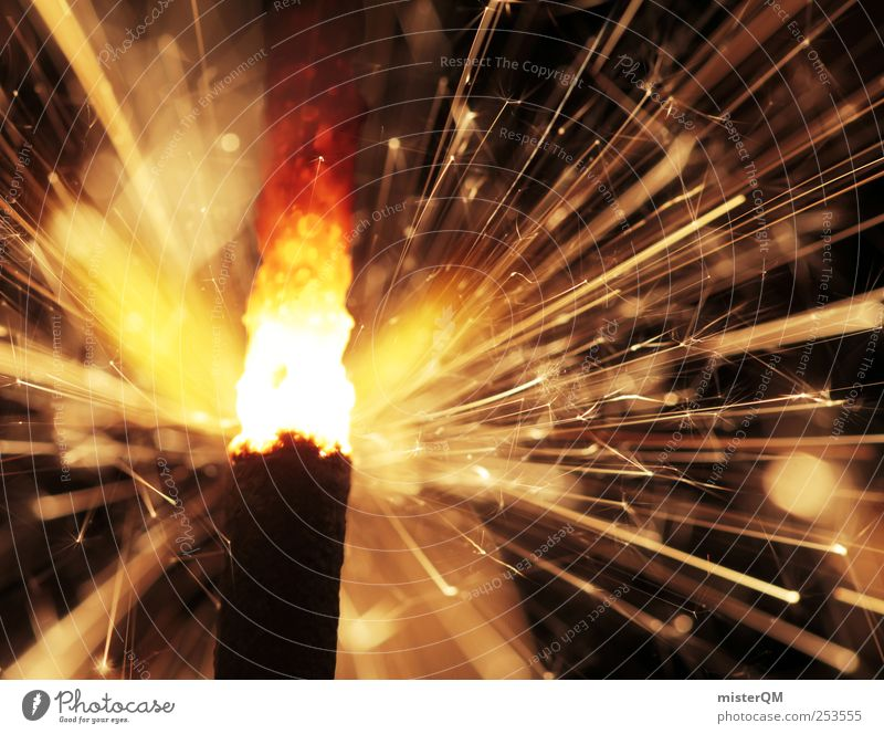 A Thousand Sparks. Lifestyle Esthetic New Year's Eve Sparkler Hot Warmth Burn Explosion Rousing Fuse Party night Jubilee Congratulations Birthday Joy Event