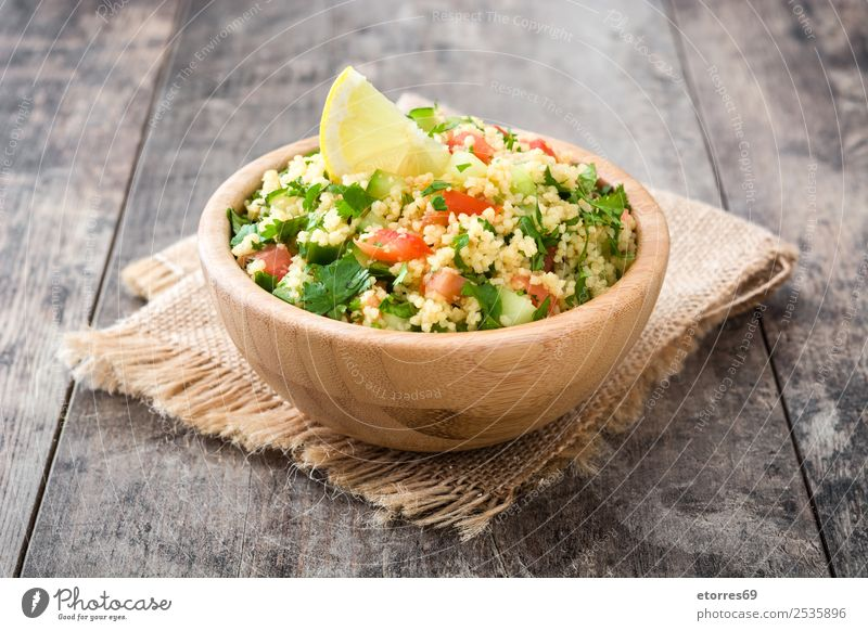 Tabbouleh salad Table Salad couscous Vegetable Tomato Cucumber Parsley Mint Vegan diet Vegetarian diet Healthy Eating Nutrition Diet Bowl Lemon Food Dish