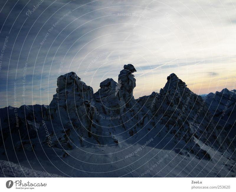 Blue White Winter Snow Landscape Stone Ice Rock Frost Alps Glacier